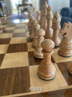 Handmade Chess Set. Weighted Pieces With Felt Lined Drawer