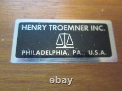 Henry Troemner Scale Weight Set 2112.1 Grams 23 Pieces Fitted Mahog. Box