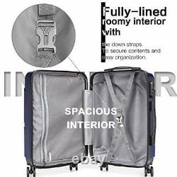 Luggage Set 3 Pieces Light Weight Hard Shell PC Suitcase 4 Spinner Wheel