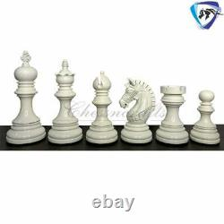 Luxury Staunton Chess Pieces Set in Painted Boxwood Weighted 4.1 ARMOURED CHESS