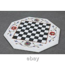 Marble Stone Chess Pieces & Board Set -Inlay Handcrafted Work- 12 board
