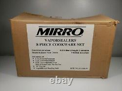 NOS Mirro Vaporsealers 8 Piece Cookware Set extra Heavy Weight Aluminum Polished