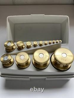 Ohaus 14 piece Sto-A-Weight Calibration Set With CASE