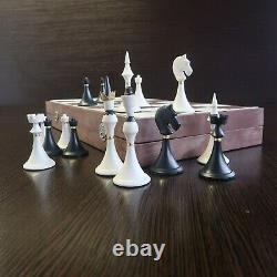 Olympic Soviet New 1970s Chess Set, Weighted Pieces, 16,53 inch Board, Carbolite