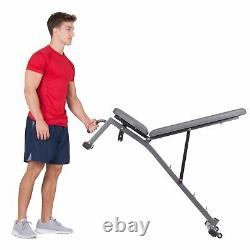 Olympic Weight Bench with Squat Rack Two Piece Set Weightlifting Training 300 lb