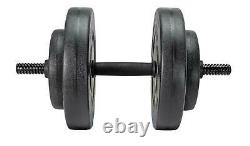 Opti Vinyl Barbell and Dumbbell Gym Weights Set 50kg 25 Pieces