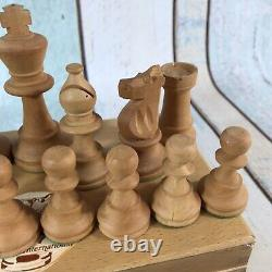 Pieces en Buis Lardy international Weighted large Chess Set Boxed K = 90mm