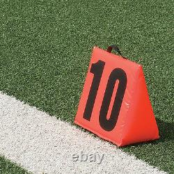 Pro-Down Solid Sideline Markers with Handle 11 Piece Set