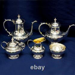 Reed & Barton The Pilgrim Sterling 5 piece Tea Set total weight 65.74 oz troy