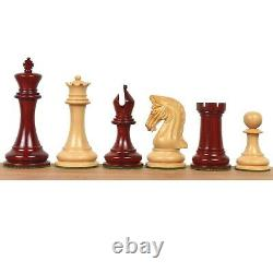 Repro 2016 Sinquefield Staunton Chess Pieces Only Set-Bud Rosewood-Triple Weight