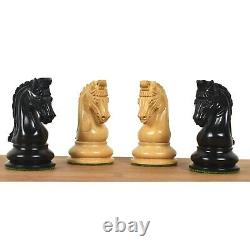 Repro 2016 Sinquefield Staunton Chess Pieces Only Set -Ebony Wood- Triple Weight