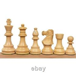 Reproduced French Lardy Staunton Chess Pieces set Weighted Wood 4 Queens