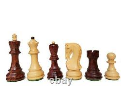 Russian Zagreb Chess Pieces King 4 Weighted Luxury unique chess set in Rosewood
