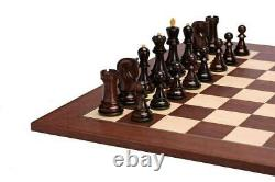 Russian Zagreb Chess Pieces set King 3.9 in Rosewood +Boxwood Weighted 4 Queens