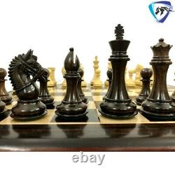 Staunton Chess Pieces Set in Rose wood & Boxwood- 4.1 EXCALIBUR Weighted 4QUEEN