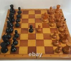 Tournament vintage chess set. Weighted chess pieces. Made in USSR