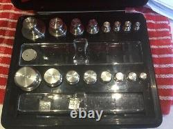 Troemner Apothecary Scale Weight Set 20 Pieces Oz, G, Mg