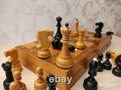 USSR wooden tournament chess set Grandmaster Weighted pieces