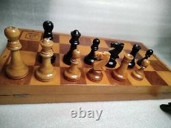 Vintage Russian Grand Tournament Chess Grandmaster Set 20 Board Weighted Pieces