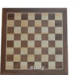 WE Games French Staunton Chess Set Weighted Pieces Walnut Wood Board 19 in