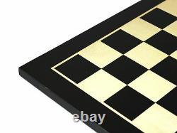 Wooden Chess Set Ebony Board 16 Weighted Ebonised French Staunton Pieces 3