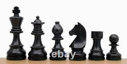 Wooden Chess Set Ebony Board 16 Weighted Ebonised German Staunton Pieces 3