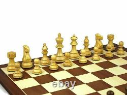 Wooden Chess Set Mahogany Board 20 Weighted Sheesham Classic Staunton Pieces 3
