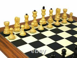 Wooden Chess Set Palisander Board 20 Weighted Ebonised Zagreb Staunton Pieces 3