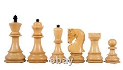 Wooden Chess Set Tiger Ebony Board 20 Weighted Ebonised Zagreb Staunton Pieces