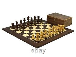 Wooden Large Macassar Chess Set French Knight Handcrafted Weighted Pieces 20