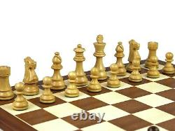 Wooden Mahogany Chess Set French Knight Handcraft Weighted Sheesham Pieces 16