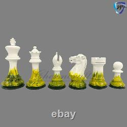 Wooden Staunton chess pieces set Painted Weighted boxwood king 4 4 Queens